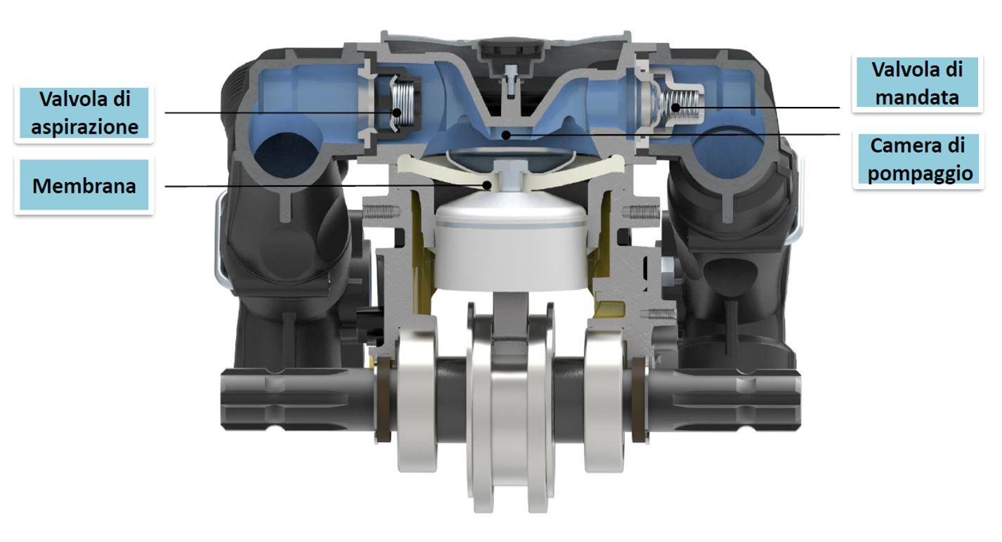 componenti pompe a membrana_ unità di pompaggio