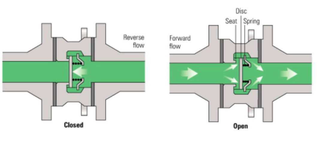 COMPONENTS OF A DIAPHRAGM PUMP_sunction and delivery valves