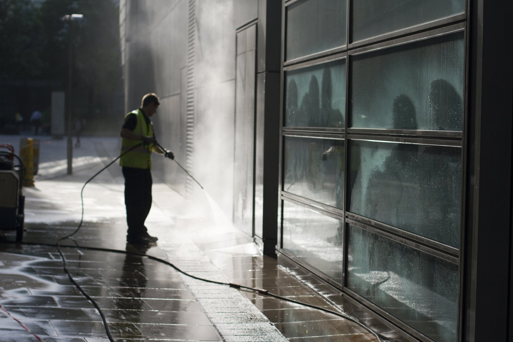 HOW TO CLEAN, DISINFECT, SANITIZE WITH THE PRESSURE WASHER
